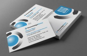 Knowledge Relay business cards   38West Web Design & Creative Marketing Agency in Orange County, CA