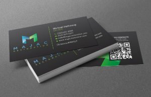 MAJAC Restoration business cards | 38West Web Design & Creative Marketing Agency in Orange County, CA