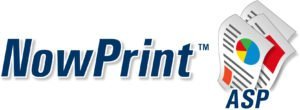 NowPrint ASP logo created by 38West, Brian Weiske