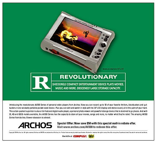Archos print ad movie poster by 38West, Brian Weiske