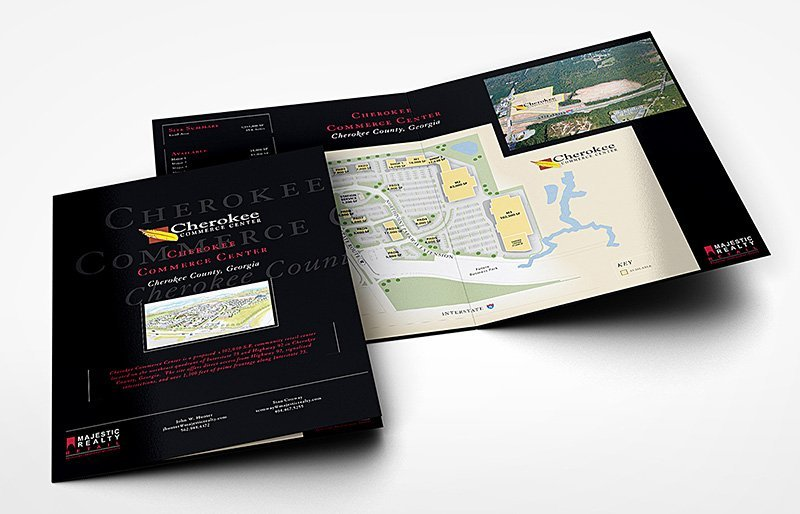Majestic Realty Retail 4-page tabloid brochure | 38West Web Design & Creative Marketing Agency in Orange County, CA