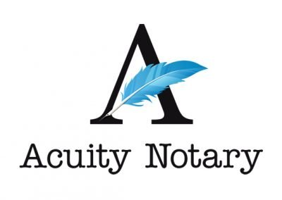 Logo created for Acuity Notary by 38West